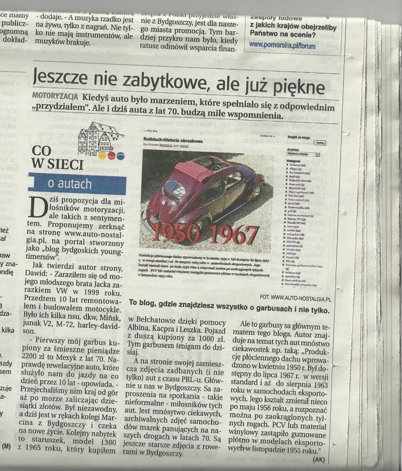 auto -nostalgia gazeta pomorska 02.08.2013